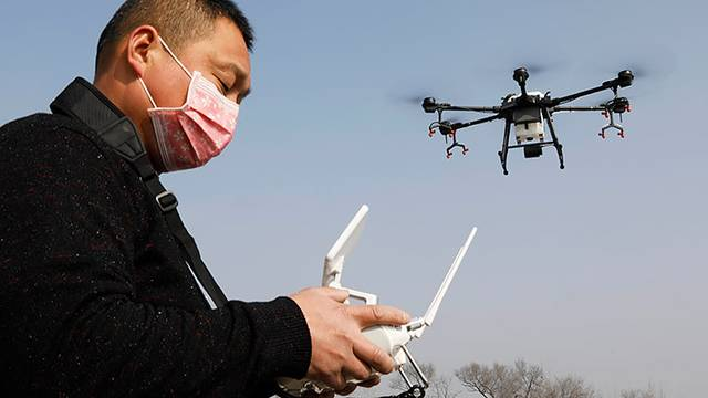 Drones and Signifiers Should Prevent the Corona Virus in China